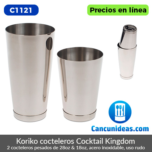C1121-Cocktail-Kingdom-Koriko-2-cocteleros-pesados-28-y-18-oz-Cancunideas