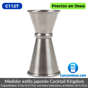 C1127-Cocktail-Kingdom-Jigger-0.50-Oz-Y-0.75-Oz-media-y-tres-cuartos-Oz-Cancunideas