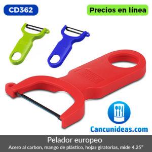 CD362-Pelador-europeo-hojas-de-acero-al-carbon,-cuerpo-plastico-Cancunideas