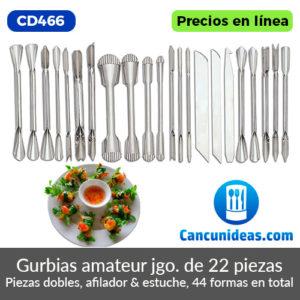 CD466-Gurbias-amateur-22-piezas-dobles-afilador-y-estuche-Cancunideas