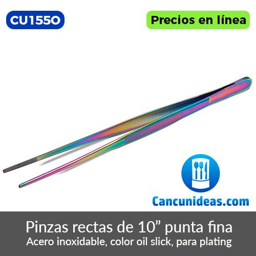 CU155O-Pinzas-rectas-color-oil-slik-con-punta-fina-de-10-pulgadas-Cancunideas