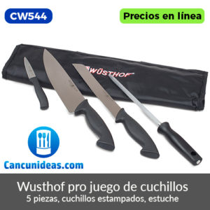 CW544-Juego-de-cuchillos-Wusthof-Pro-de-5-piezas-estampados-Cancunideas