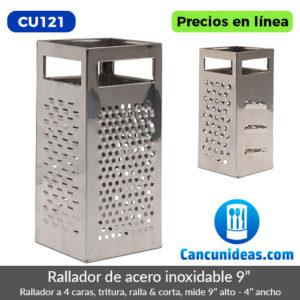 CU121-Rallador-a-cuatro-caras-de-acero-inoxidable-9-pulgadas-Cancunideas