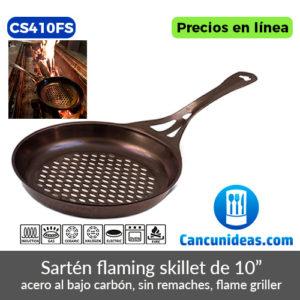 CS410FS-Sarten-flaming-skillet-de-acero-al-bajo-carbon-Cancunideas